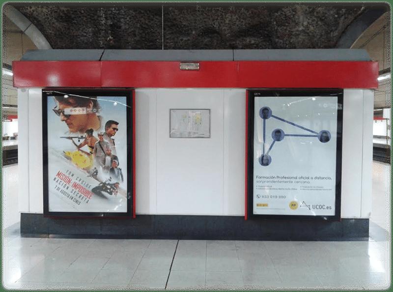 Publicidad en Metro y Renfe